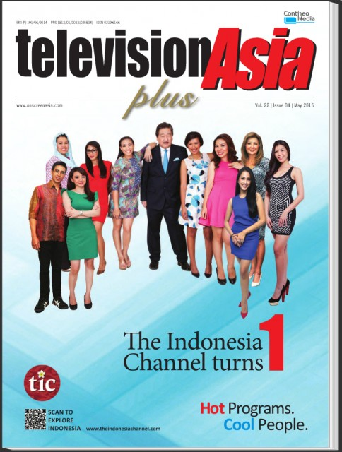 On the front cover of Television Asia Plus